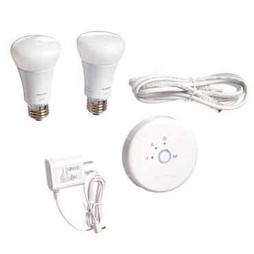 Philips 453761 Hue Lux 60W Equivalent A19 LED Personal Wireless Lighting Starter Kit, 1st Generation