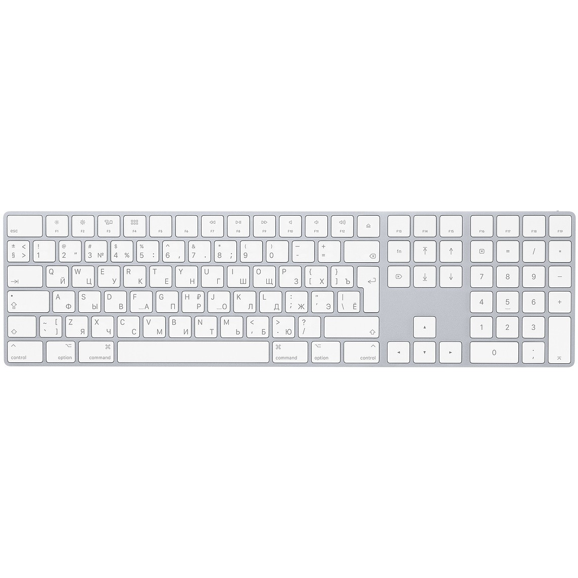 Клавиатура Apple Magic Keyboard with Numeric Keypad (MQ052RS/A)